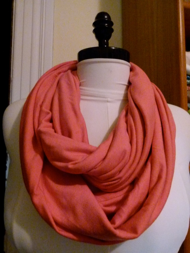 cotton/bamboo jersey infinity scarf