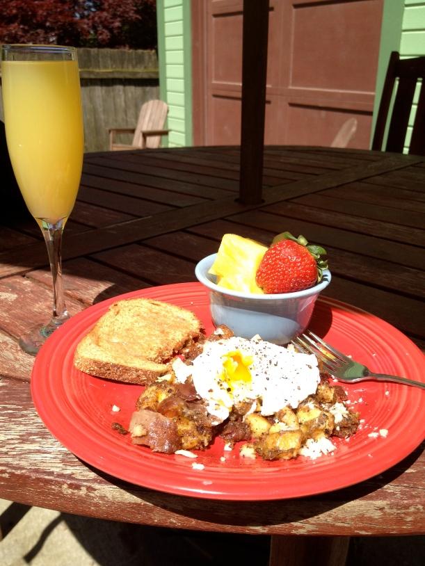 sunny day breakfast