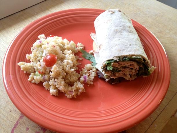 wrap & salad